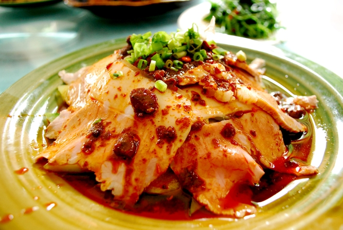 Traditional Sichuan food cooked pork